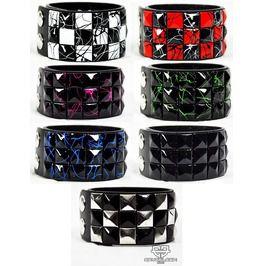 Pyramid gothic punk industrial emo edm ebm rave rock metal stud bracelet bracelets