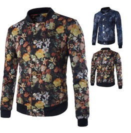 Men's Floral Print Casual Jacket