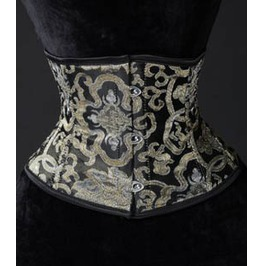 Gold Brocade Waist Cincher Steel Boning $9 To Ship Anywhere