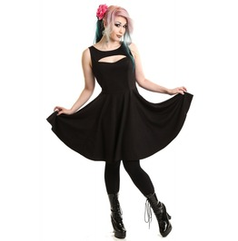 Vixxsin Patsy Dress Gothic Swing Dress Alternative Rock Style !