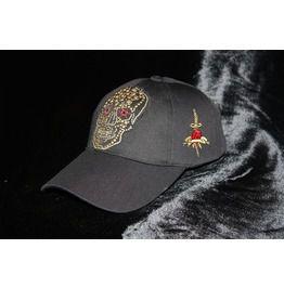 9f2361b042e Skull Baseball Cap Black Gothic