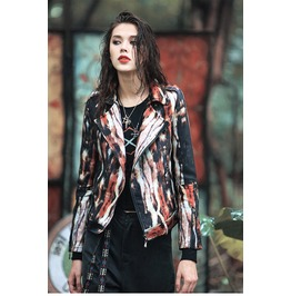 New Ethnic Style Punk Women Motorcycle Coat Jacket
