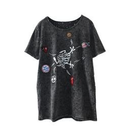 Punk Rock Short Sleeve Top T Shirt Tee