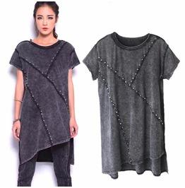 Short Sleeve Gray Punk Rock Top T Shirt Tee