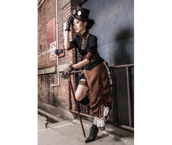 brown_army_green_steampunk_buckled_side_slit_full_length_skirt_plus_sizes_skirts_6.jpg
