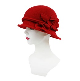 Red Wool 1920's Cloche Hat Last One!