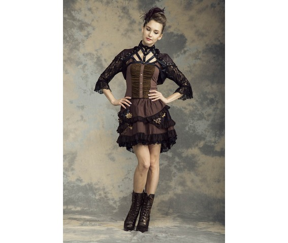 gothic_steampunk_black_brown_faux_leather_lace_brocade_bolero_top_standard_tops_6.jpg