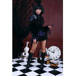 Lace Up Corseted Black Gothic Swallow Tail Underbust Jacket/Coat