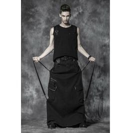 Mens Gothic Kilt Skirt With Pockets