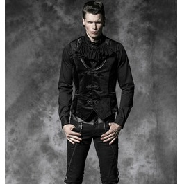Men's Black V Neck Gothic Vest