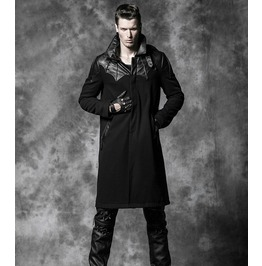 Men's Gothic Black Long Trench Coat