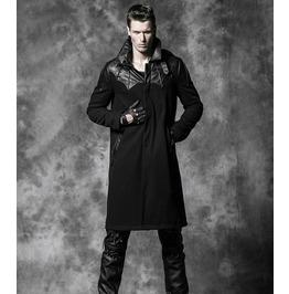 Men's Gothic Black Long Trench Coat