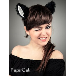 Cat Kitty Ears Black Beige Cosplay Kawaii Anime Harajuku Sweet