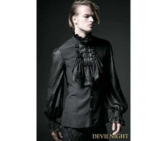 black_gothic_long_sleeves_chiffon_emnossing_blouse_for_men_shirts_5.jpg