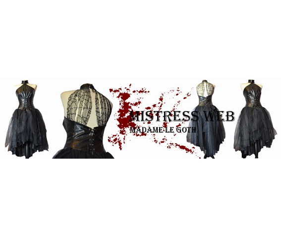 amazing_spooky_goth_gothic_funeral_wedding_vampire_dress_gown_faux_leather_dresses_5.jpg