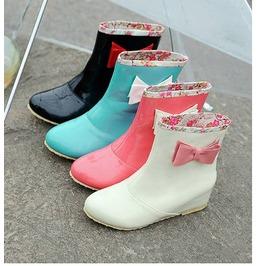 Bow rain boots botas lluvia lazo wh663 boots 6