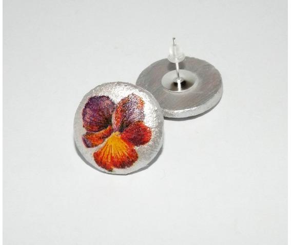 handmade_decoupage_purple_red_pansy_wooden_stud_earrings_earrings_4.jpg