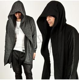 Asymmetric Gown Hood Cardigan 53
