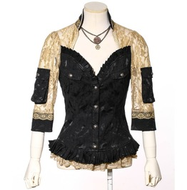 Gothic Lace Color Block Coat B141