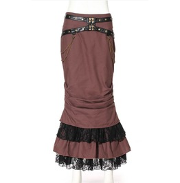 Steampunk Multilayer Fish Tail Maxi Skirt B145