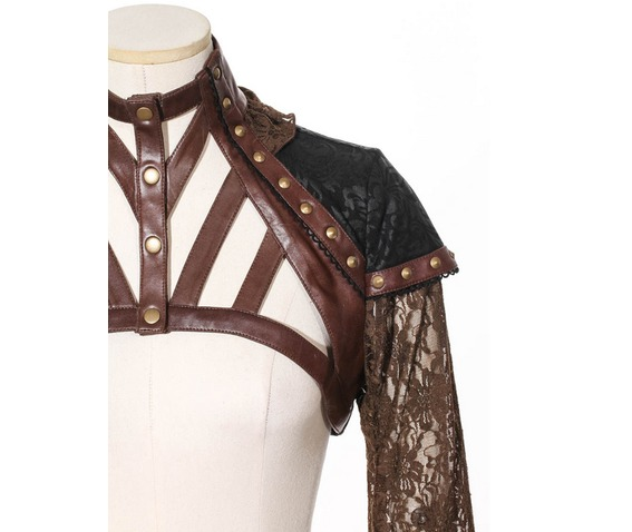 gothic_rivets_faux_leather_spaghetti_strap_lace_women_cape_coat_brown_coats_6.png