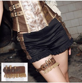 Steampunk Bullets Faux Leather Garter B031