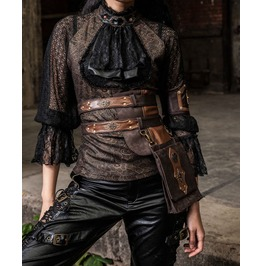 Steampunk Faux Leather Women Waist Bag B092