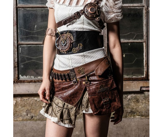 steampunk_waist_bag_faux_leather_metal_chain_skirt_brown_skirts_5.png