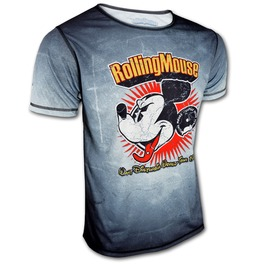 Mickey Mouse Want Disturbia Rolling Mouse Men's Disney Designer T Shirt