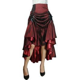 3 Way Tiered Skirt Burgundy Lk03060