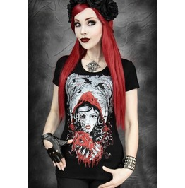 Little Red Riding Hood Zombie Gothic Graphic T Shirt