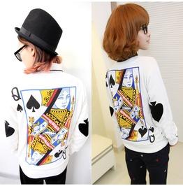 Poker Sweatshirt Sudadera Wh241