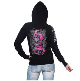 Toxico Clothing Deathsnake Black Zip Up Hoodie