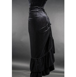 Black Velvet Victorian Pirate Layer Bustle Skirt $9 Worldwide Shipping
