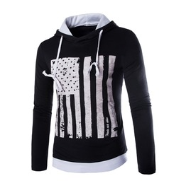 Men's Cotton Blend American Printed Hoodie