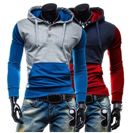 Men's Blue/Red Cool Autumn Winter Hoodies