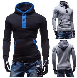 Men's Black/Gray High Neck Sweatshirts