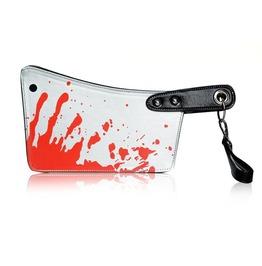 Punk Bold Bloody Cleaver Clutch Purse Handbag
