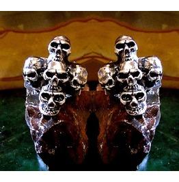 5 Skull Cufflinks Sterling Silver
