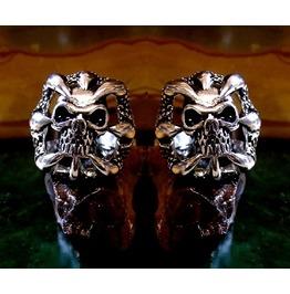 Claw Skull Cufflinks Sterling Silver