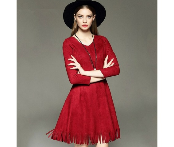 long_sleeves_tassel_slim_waist_short_dress_dresses_5.png