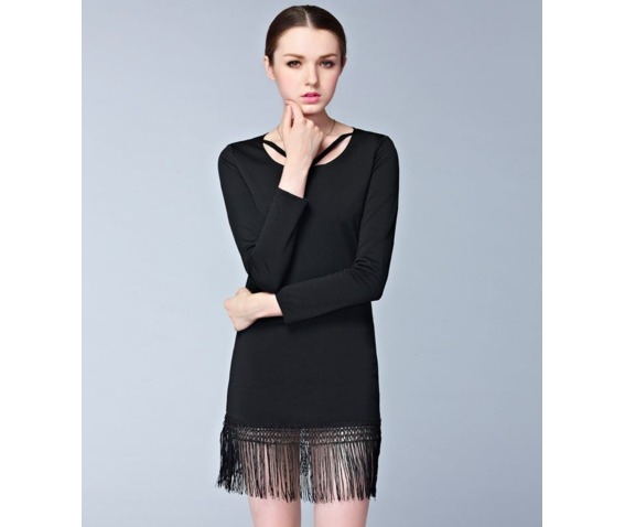 long_sleeves_tassel_strap_neck_slim_short_dress_dresses_6.png