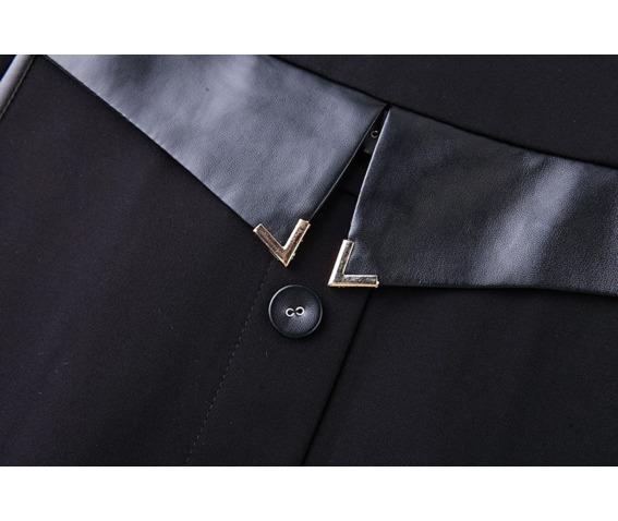 stylish_leather_belt_trim_neckline_short_black_dress_dresses_6.png