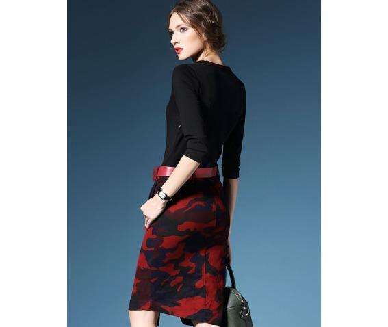v_neck_black_top_camouflage_pattern_slim_skirt_dress_dresses_4.png