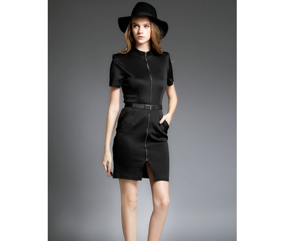 front_zipper_side_pocket_slim_black_dress_dresses_5.png