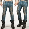 Tough chic high quality blue biker jean 61 pants and jeans 2