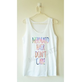 Galaxy Mermaid Hair Don't Care Mermaid Women Tank Top Men Shirt Women Shirt