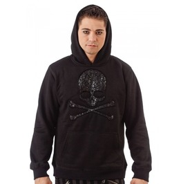 Punk Hoodie With Skulls On Skull Design $9 Shipping Worldwide
