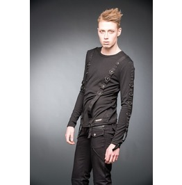 Gothic Industrial Rivet Head Long Sleeved D Ring Bondage Shirt $9 Shipping