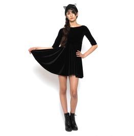 Velvet Babydoll Dress